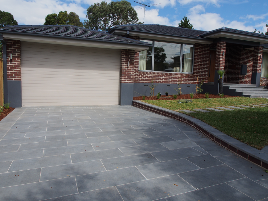 Driveway paving melbourne for Bluestone house